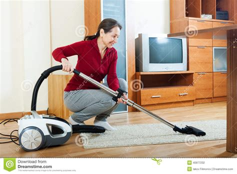 Vacuum Cleaner Happy King with vacuum cleaner stock photo image 40977232