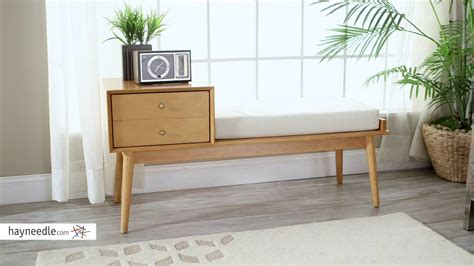 belham living mid century modern bench hayneedle belham living finn mid century modern bench product