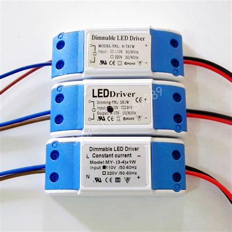 Driver Led 3w dimmable isolated 300ma 3 4x1w 5x1w 6 7x1w led driver 3w 4w 5w 6w 7w power supply ac 110v 220v