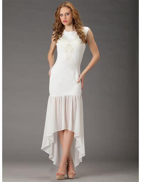 imagenes de jesus vestido de blanco vestido blanco largo asimetrico online vl69