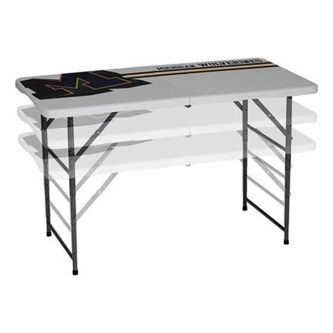 adjustable height folding table pdg of michigan 4 adjustable height