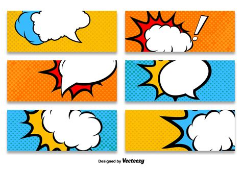 Cartoon Style Banner Vector Templates Download Free Vector Art Stock Graphics Images Caricature Templates Free