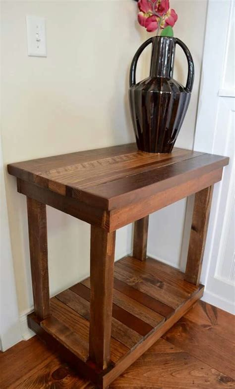 reclaimed rustic entry table rustic entry table wood