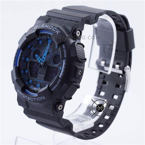 Jamtangan G Shock Ga 100 1a2 harga sarap jam tangan g shock ga100 1a2 black blue