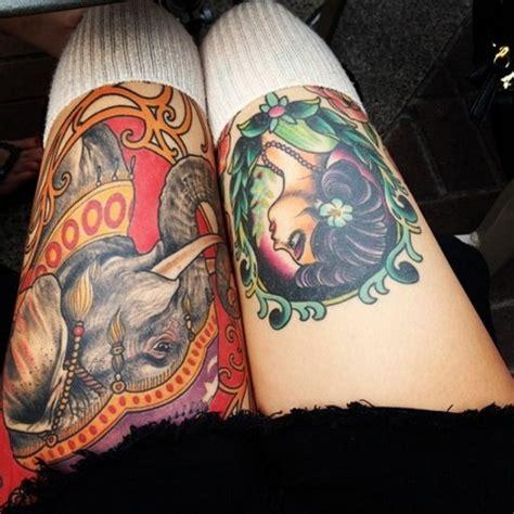 tattoo old school elephant красивые татуировки на женских ногах 6 фото татуировки