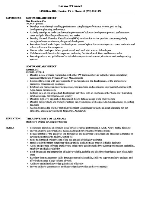 Software Architect Resume by Software Architect Resume Sles Velvet