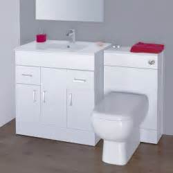 turin high gloss white vanity unit bathroom suite w1300 x