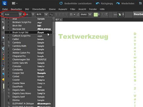 photoshop elements layout erstellen texte erstellen und bearbeiten photoshop elements
