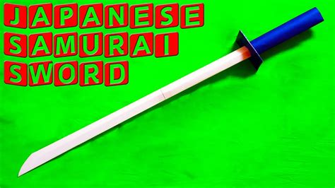 How To Make A Paper Samurai Sword - how to make a paper sword japanese samurai sword