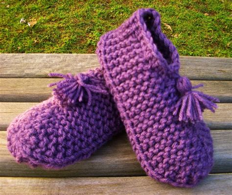 knitted house slippers pattern slippers pattern knitting patterns gallery