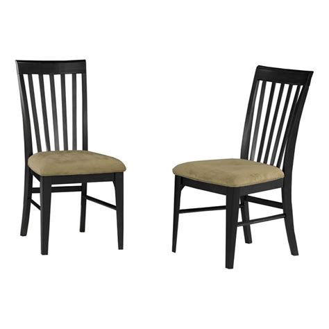 Cappuccino Dining Chairs Atlantic Furniture Montreal Cappuccino Fabric Dining Chair Set Of 2 Ad77413x