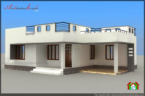 1000 sq ft house plans 2 bedroom below 1000 square feet house plan and elevation architecture kerala