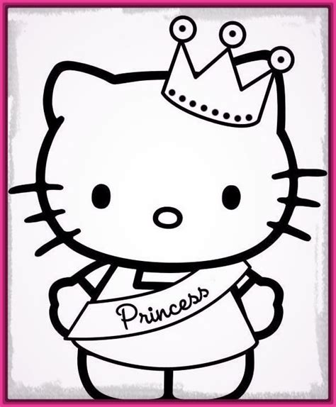imagenes para dibujar hello kitty dibujos para colorear de hello kitty princesa archivos