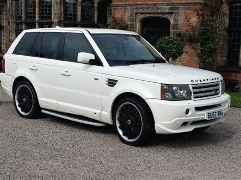 range rover blue and white white range rover sport overfinch limo hire manchester