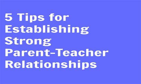 5 tips for establishing strong parent