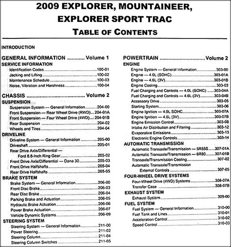 service manual 2009 ford explorer sport trac owners manual download service manual service