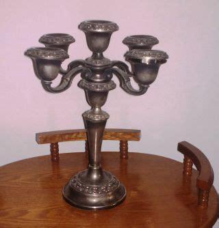 kerzenhalter versilbert metallobjekte messing gefertigt nach 1945 leuchter