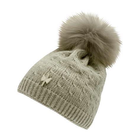 Pompom Bonnet by Medium Grey Erina Fur Pompom Beanie Pipolaki