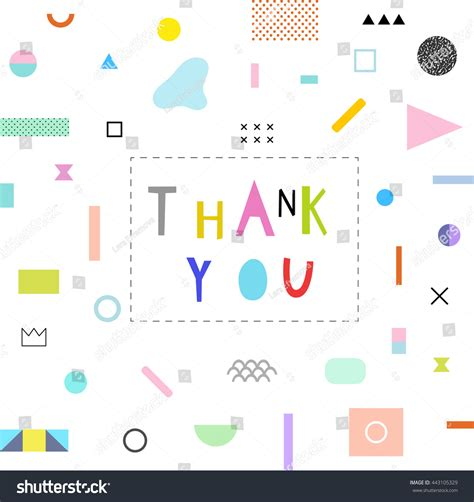 colorful card background design elements free vector in thank you card geometric elements background stock vector