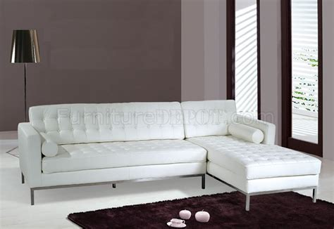 white black or brown button tufted leather sectional sofa