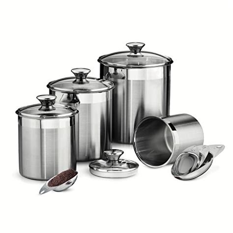 stainless steel kitchen canister set stainless steel canisters webnuggetz com