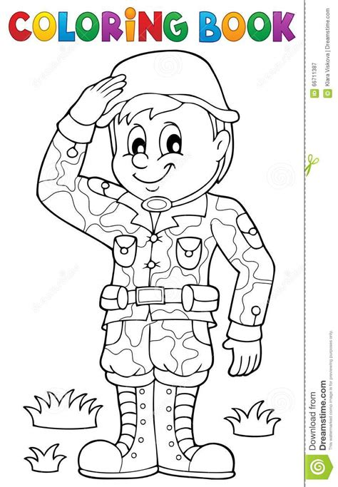 army themed coloring pages coloring book male soldier theme 1 stock vector image