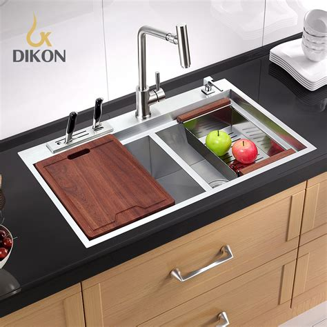dikon 304 stainless steel kitchen sink torneiras para pia dikon 304 stainless steel kitchen sink handmade double