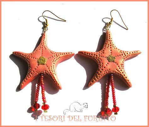 corsi per l estate quot orecchini estivi quot stella marina corallo oro quot estate 2015