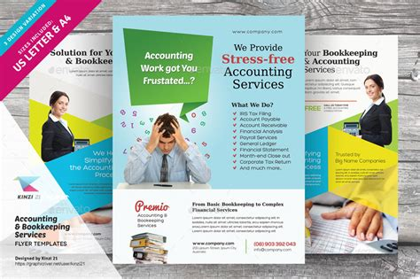 accounting flyer templates accounting and bookkeeping services flyers by kinzi21