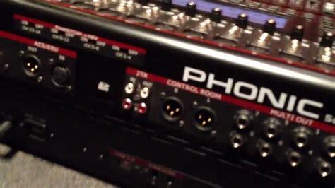 Mixer Osso un vistazo a la consola digital phonic summit 16