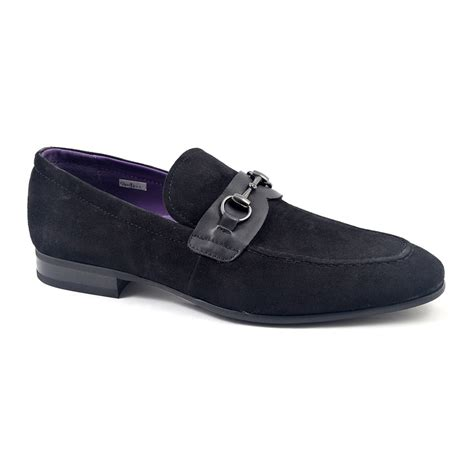 buy loafers buy mens black suede buckle loafer gucinari