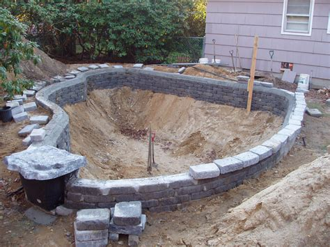 backyard pond construction triyae building koi pond backyard various design