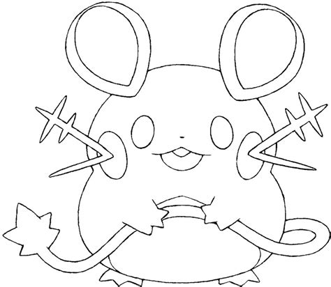 pokemon coloring page dedenne coloring pages pokemon dedenne drawings pokemon