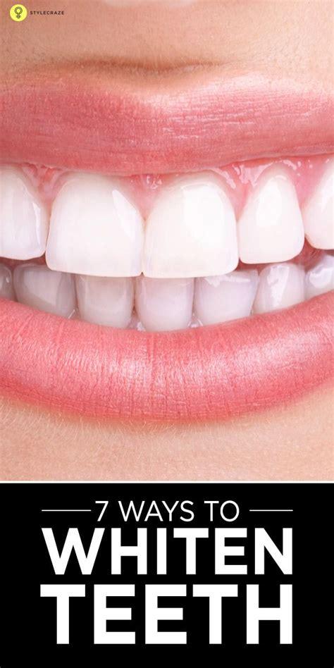 simple ways  whiten teeth home remedies  tips
