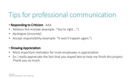 Tips To Be Professional Professional Communication Etiquette