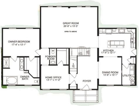 mountain view floor plans mountain view plan a 2996 square foot cape floor plan