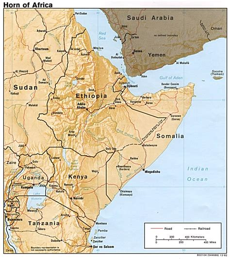 horn of africa map somalia maps perry casta 241 eda map collection ut library