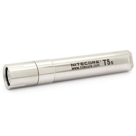 Nitecore T Series T5s Stainless Steel Led Cree Xp G2 R5 70 Lumens nitecore t series t5s stainless steel led cree xp g2 r5 70