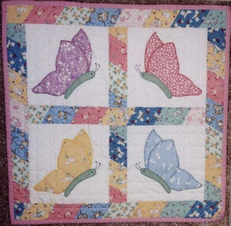 Free Baby Quilt Applique Patterns by Butterfly Applique Quilt Blocks How To Applique