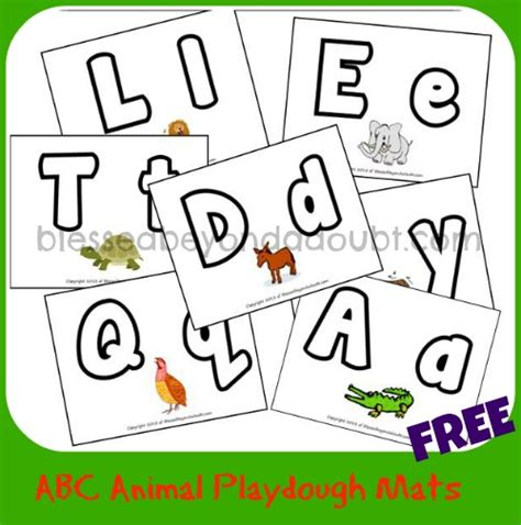printable alphabet mat free abc animal playdough mats animal play dough and school