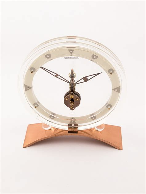 Jaeger Lecoultre Desk Clock jaeger lecoultre table desk clock with 8 day inline movement time