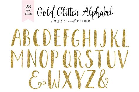 free printable glitter fonts glitter alphabet cliparts illustrations creative market