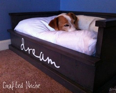 how to build a dog bed diy dog bed furniture pinterest
