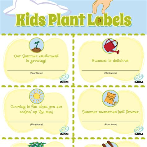 Printable Plant Labels | customizable chore chart imom