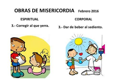 imagenes de misericordia espirituales parroquia santa beatriz obras de misericordia febrero