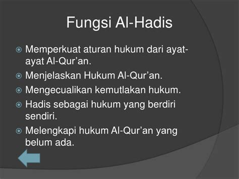 Peran Ilmu Hadis Dalam Pembinaan Hukum Islam sumber hukum islam