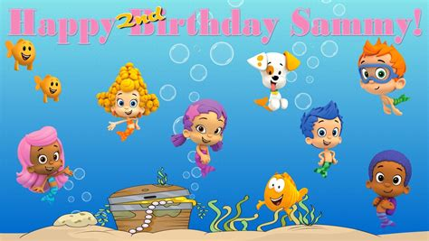 the gallery for gt bubble guppies birthday banner template