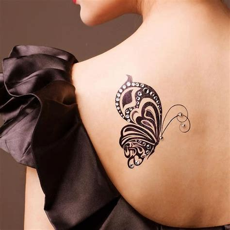 Tattoo Back Left Shoulder | left back shoulder butterfly tattoo for girls