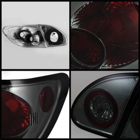 toyota corolla 2003 2008 smoked altezza tail lights