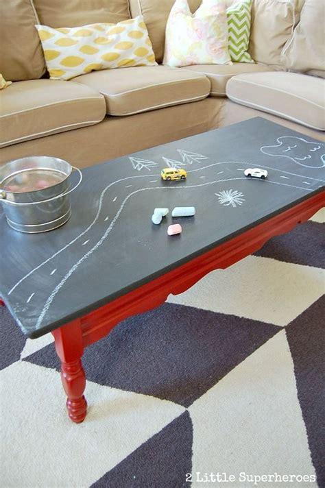 chalkboard paint coffee table diy chalk board coffee table do it yourself ideas